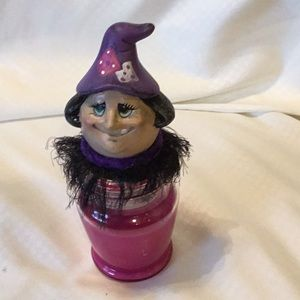 Other - Handmade Ceramic Witch Candle Holder